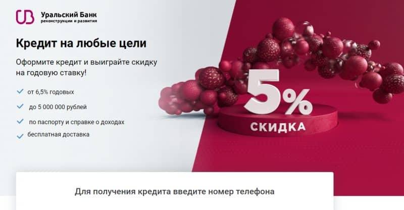 Потребительский кредит в Уральском банке