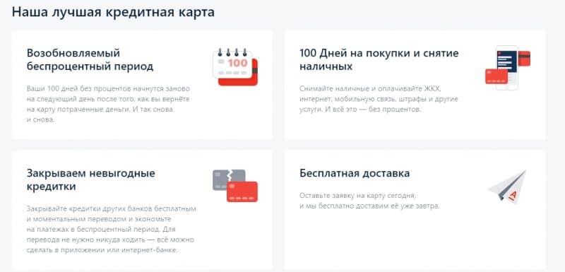 Кредитная карта Альфа-Банка 100 дней без %