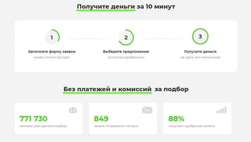 Подбор кредита в Одобрим.ру